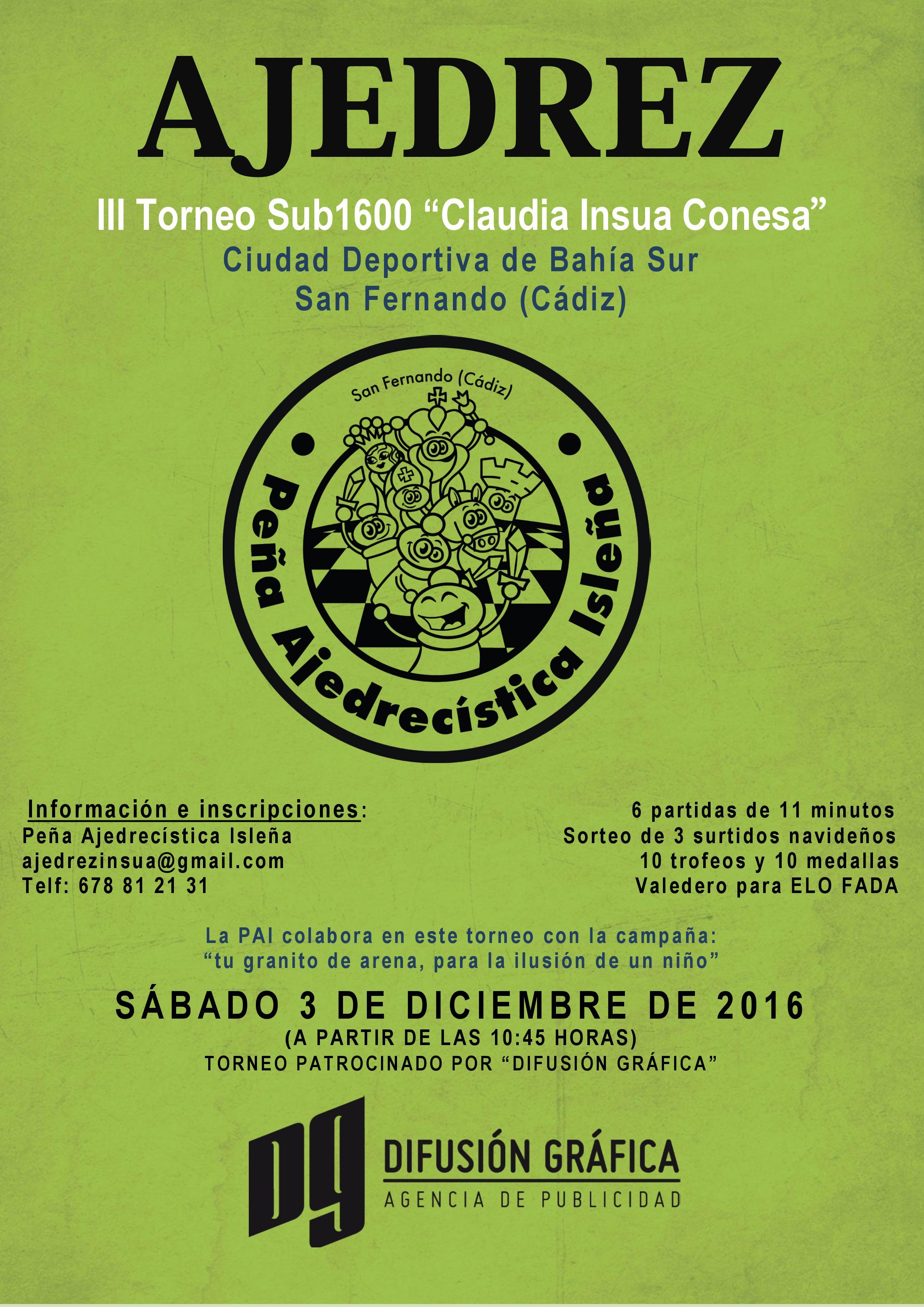 Cartel torneo sub1600 Claudia Insua Conesa