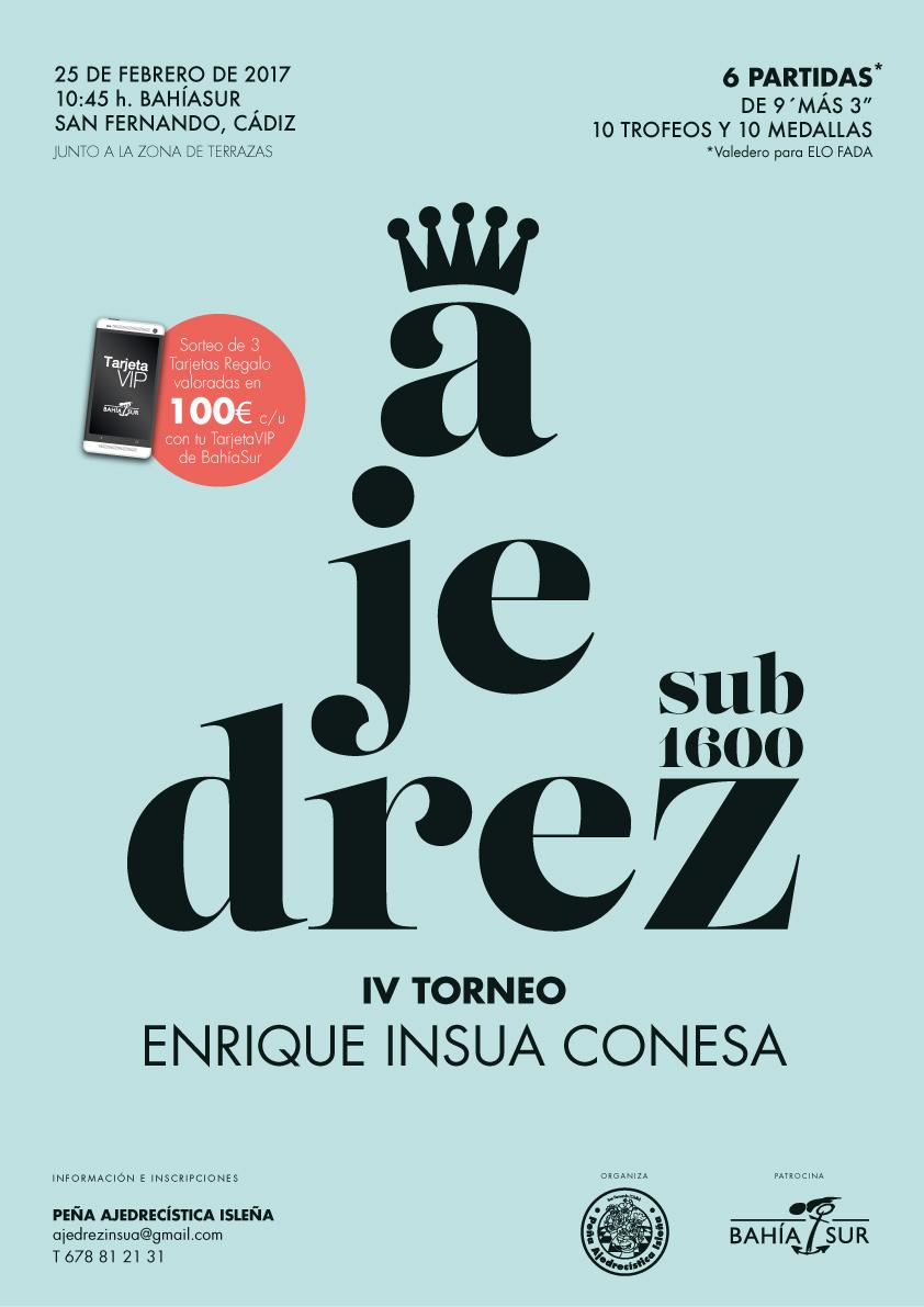 Cartel torneo sub1600 Enrique Insua Conesa